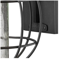 Hinkley 2254BK New Castle 1 Light 17 inch Black Outdoor Wall Mount, Seedy Glass alternative photo thumbnail