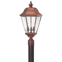 Hinkley 2261AP Clifton Beach 3 Light 24 inch Antique Copper Post Lantern, Post Sold Separately
