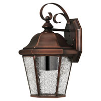 Hinkley Lighting Clifton Beach 1 Light Outdoor Wall Lantern in Antique Copper 2263AP-DS