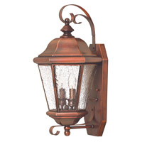 Clifton Beach 2 Light 18 inch Antique Copper Outdoor Wall Lantern