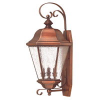 Clifton Beach 3 Light 26 inch Antique Copper Outdoor Wall Lantern