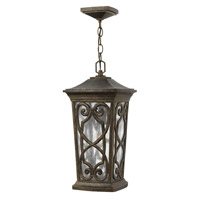 Hinkley 2272AM Enzo 1 Light 10 inch Autumn Outdoor Hanging Lantern in Incandescent, Clear Seedy Glass