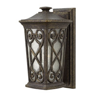 Hinkley Lighting Enzo 1 Light Outdoor Wall Lantern in Autumn with Clear Seedy Glass 2274AM