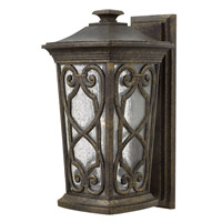Enzo 1 Light 19 inch Autumn Outdoor Wall Lantern in Incandescent, Clear Seedy Glass