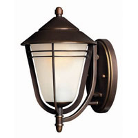 Hinkley Lighting Aurora 1 Light Outdoor Wall Lantern in Metro Bronze 2280MT photo thumbnail