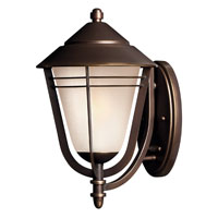 Hinkley Lighting Aurora 1 Light GU24 CFL Outdoor Wall in Metro Bronze 2284MT-GU24