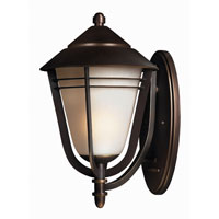 Aurora 1 Light 18 inch Metro Bronze Outdoor Wall Lantern in Energy Star, Compact Fluorescent