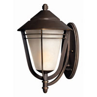Hinkley Lighting Aurora 1 Light Outdoor Wall Lantern in Metro Bronze 2289MT photo thumbnail