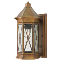 Hinkley 2290SN-LED Brighton 1 Light 14 inch Sienna Outdoor Wall Lantern in LED