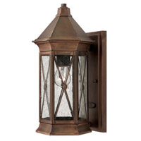 Hinkley 2290SN Brighton 1 Light 14 inch Sienna Outdoor Wall Lantern in Incandescent