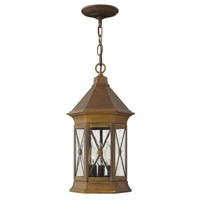 Hinkley Lighting Brighton 1 Light Outdoor Hanging Lantern in Sienna 2292SN-LED