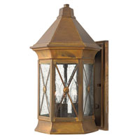 Hinkley Lighting Brighton 1 Light Outdoor Wall Lantern in Sienna 2294SN-ES photo thumbnail