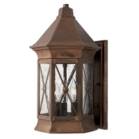 Hinkley 2294SN Brighton 3 Light 16 inch Sienna Outdoor Wall Lantern in Incandescent