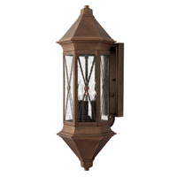 Hinkley 2295SN-LED Brighton 1 Light 24 inch Sienna Outdoor Wall Lantern in LED, Clear Seedy Glass