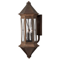 Hinkley Lighting Brighton 1 Light Outdoor Wall Lantern in Sienna with Clear Seedy Glass 2298SN-LED