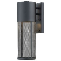 Hinkley 2300BK Aria 1 Light 16 inch Black Outdoor Wall Sconce, Small