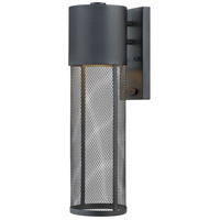 Aria 1 Light 19 inch Black Outdoor Wall Mount