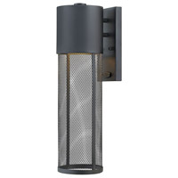 Hinkley 2304BK Aria 1 Light 19 inch Black Outdoor Wall Sconce, Medium