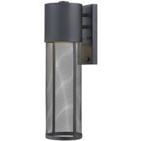 Hinkley 2304BK Aria 1 Light 19 inch Black Outdoor Wall Mount in Incandescent, Medium