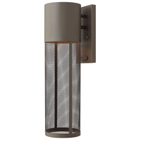 Hinkley 2304KZ Aria 1 Light 19 inch Buckeye Bronze Outdoor Wall Lantern in Incandescent