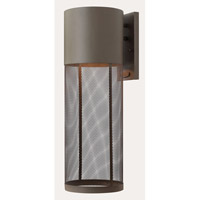 Aria 1 Light 22 inch Buckeye Bronze Outdoor Wall in GU24