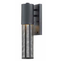 Hinkley 2306BK-LED Aria 1 Light 15 inch Black Outdoor Wall Sconce, Mini
