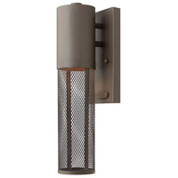 Hinkley 2306KZ Aria 1 Light 15 inch Buckeye Bronze Outdoor Mini Wall Mount in Halogen