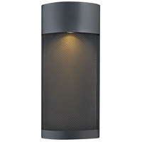 Aria LED 17 inch Black Outdoor Pocket Wall Mount