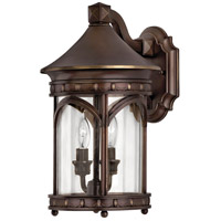Lucerne 1 Light 15 inch Copper Bronze Outdoor Wall in LED, Clear Glass