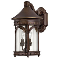 Lucerne 2 Light 15 inch Copper Bronze Outdoor Wall Lantern in Incandescent