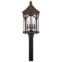Lucerne 1 Light 27 inch Copper Bronze Post Lantern in LED, Clear Glass, Post Sold Separately