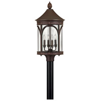 Lucerne 4 Light 27 inch Copper Bronze Outdoor Post Mount in Incandescent, Post Sold Separately
