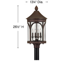 Hinkley 2311CB Lucerne 4 Light 27 inch Copper Bronze Outdoor Post Top/Pier Mount alternative photo thumbnail