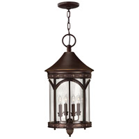 Lucerne 1 Light 13 inch Copper Bronze Outdoor Hanging in LED, Clear Glass