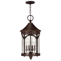 Lucerne 4 Light 13 inch Copper Bronze Outdoor Hanging Lantern in Incandescent
