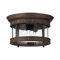 Hinkley Lighting Lucerne 1 Light LED Outdoor Flush Mount in Copper Bronze 2313CB-LED