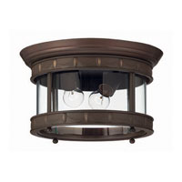 Hinkley Lighting Lucerne 2 Light Outdoor Flush Lantern in Copper Bronze 2313CB photo thumbnail