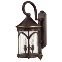 Lucerne 3 Light 25 inch Copper Bronze Outdoor Wall Mount in Incandescent