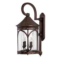 Lucerne 1 Light 30 inch Copper Bronze Outdoor Wall in LED, Clear Glass