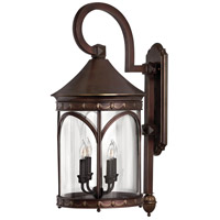 Lucerne 4 Light 30 inch Copper Bronze Outdoor Wall Mount in Incandescent