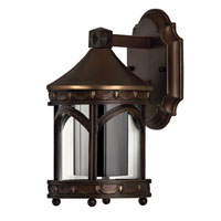 Hinkley Lighting Lucerne 1 Light Outdoor Wall Lantern in Copper Bronze 2316CB-ESDS