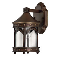 Lucerne 1 Light 11 inch Copper Bronze Outdoor Wall, Clear Glass