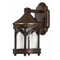 Hinkley Lighting Lucerne 1 Light Outdoor Wall Lantern in Copper Bronze 2316CB