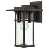 Hinkley 2320OZ Manhattan 1 Light 12 inch Oil Rubbed Bronze Outdoor Wall Mount in Incandescent, Small