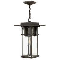 Hinkley 2322OZ Manhattan 1 Light 11 inch Oil Rubbed Bronze Outdoor Hanging Lantern in Incandescent
