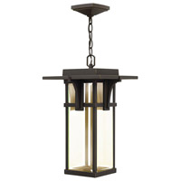 Manhattan LED 11 inch Oil Rubbed Bronze Outdoor Hanging Lantern