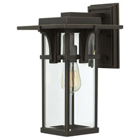 Hinkley 2324OZ Manhattan 1 Light 15 inch Oil Rubbed Bronze Outdoor Wall Mount in Incandescent