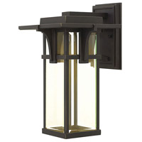 Manhattan LED 15 inch Oil Rubbed Bronze Outdoor Wall