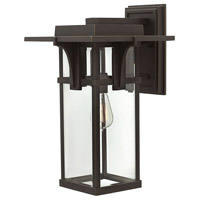 Hinkley 2325OZ Manhattan 1 Light 19 inch Oil Rubbed Bronze Outdoor Wall Mount in Incandescent