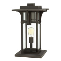 Hinkley 2327OZ-LED Manhattan 1 Light 19 inch Oil Rubbed Bronze Pier Mount Head in LED, Clear Beveled Glass